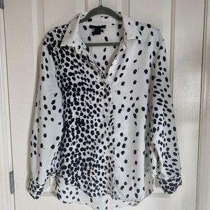 Tops - Dalmatian button-down blouse